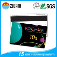 Impresión en PVC Tarjeta magnética transparente