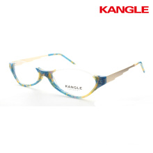 protable acetate reading glasses frame half eye readers slim half rim eyeglasses