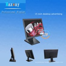 15 inch desktop lcd advertising display