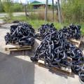 Черная окрашенная морская бесшумная якорная цепь