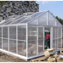 Le polycarbonate extérieur développe l'équipement agricole à effet de serre