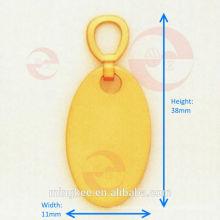 Circle Zipper Puller / Slider with Custom Logo (G11-257S)