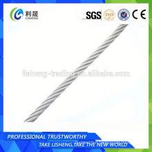 Câble de corde à fil en acier galvanisé recouvert de 6 * 7 à haute résistance à la traction