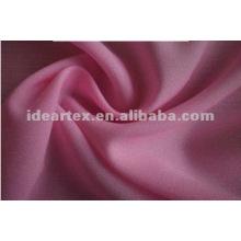 100% poliéster tejido Faya tela para el vestido de la señora