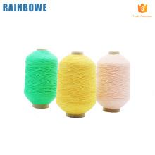 Usine d'approvisionnement en porcelaine fabricant caoutchouc recouvert spandex pour faire des chaussettes