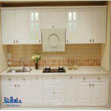 Pole Linear Style White PVC Kitchen Cabinet