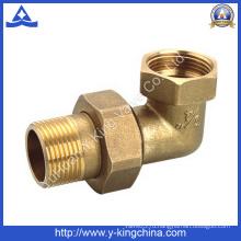 90-градусный латунный штуцер для соединения труб со сжатыми концами (YD-6039)