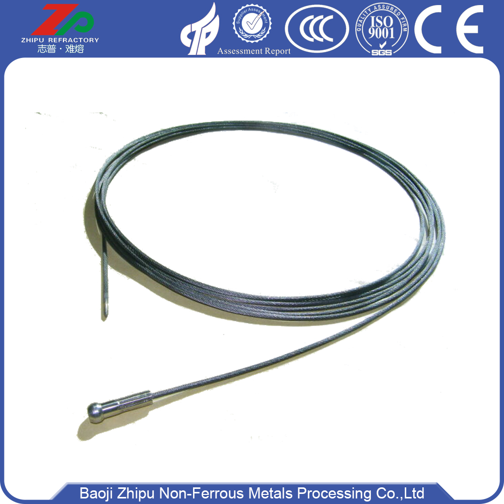 Tungsten lifting rope