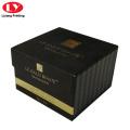 Black perfume glass box packaging