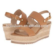 Latest Ladies Summer Shoes 2016 New Model Women Espadrille High Heel Sandals