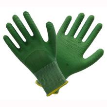 Gants de travail au latex vert 13t