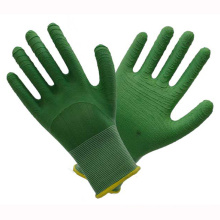 Green 13t Latex Working Gloves