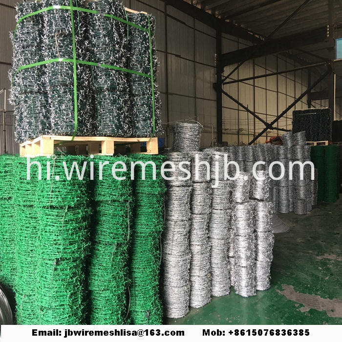Galvanized and PVC Coated Barbed Wire
