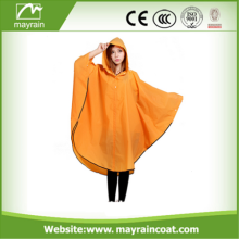 Hot Sale Yellow Hooded Adult Rain Poncho