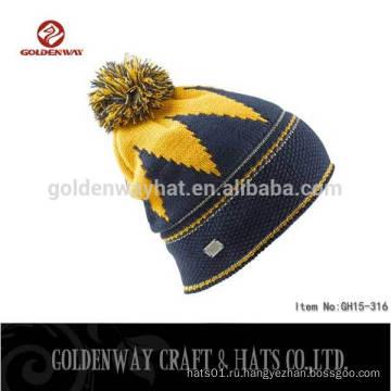2016 Пользовательские Высокое качество Beanie Hat Вязание Hat Зимняя шляпа