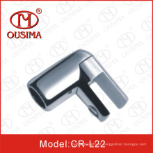 Conector de canto de tubulação de porta de vidro de aço inoxidável