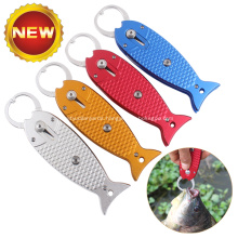 Portable  Aluminum Fishing Lip Gripper with Lanyard