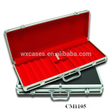 New arrival strong 500 aluminum poker case leather