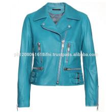 Custom fashion women leather jacket in pakistan sialkot