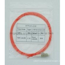 0,9 LC Mm fibra óptica Pigtail