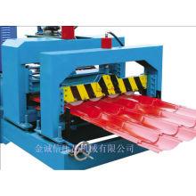 Máquina de formação de rolo de azulejo de aço colorida e laminadora de rolo