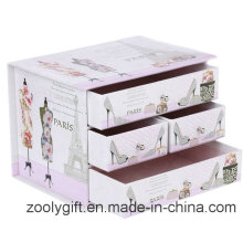 Decorative Printing Cardboard Paper Drawer Storage Organizer Box