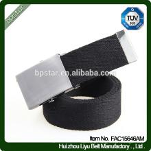 Men Belt Military Canvas Black Webbing Casual para Jeans Masculino Golf Cintos 2016 Fashion Wholesale Factory