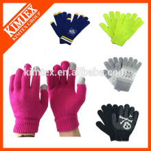 Fashion acrylic custom winter knitted gloves for texting