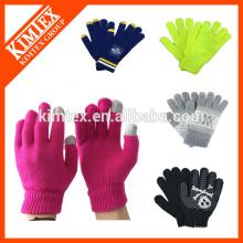Модные акриловые пользовательские зимние трикотажные перчатки для текстовых сообщений