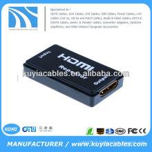 Repetidor HDMI de alta velocidade até 40m Conexão fêmea Extensor de cabo / Amplificador de sinal