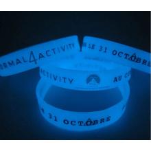 OEM Silicone Bracelet, Glow in The Dark Silicone Wristband