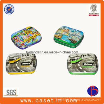 High Quality Small Rectangular Cigar Box Cheap Price Gift Tin Box with Hinge
