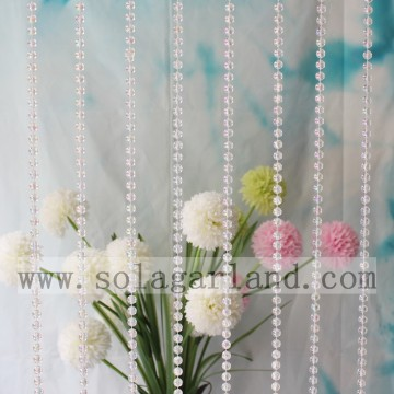 2.5-12MM Iridescent Clear AB String Beads Roll Garland