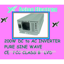 Salida de una sola fase 12VDC 200W inversor 200VAC 50Hz