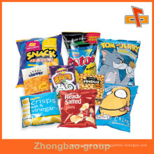 Back Sealed Aluminium Foil Pouch Packaging For Snack Puffed Food Such As Crisps , Chips