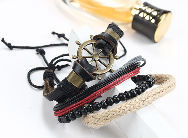 Retro Style Leather Bracelet For Man