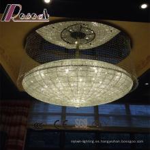 Hot Style Hotel Lobby Clear Crystal Strings Araña de luces