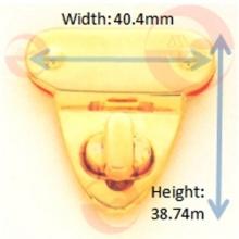 Metall-Zink-Legierung Dreieck Turn Twist Lock für Handtasche