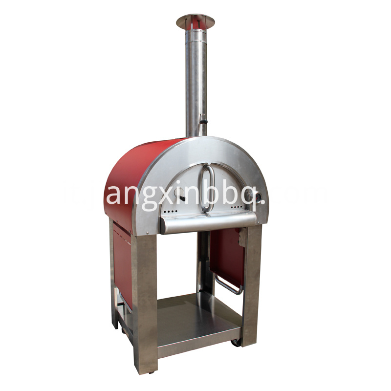 Pizza Oven With Foldable Side Table