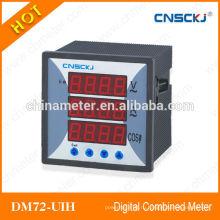 72 * 72 Китай цифровые комбинированные счетчики RS485