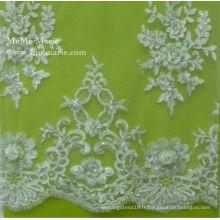 2014 broderie herbe tissu en dentelle de haute qualité de la mode robe de mariée en dentelle élastique Découper 52 '' No.CA061B