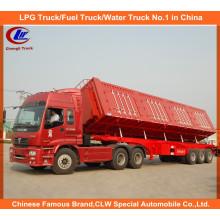Heavy Duty 3 Axle 60ton Side Tipper Truck Trailer for Coal Transportation