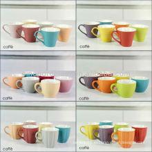 Taza de café de gres del espresso de la opción de 12 colores para BS12015