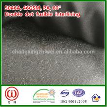 "46gsm PA 60 ""ancho color negro tejido fusible interlínea"
