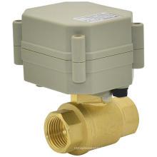 Vanne à bille à eau en laiton motorisée 2 voies OEM (T15-B2-A)