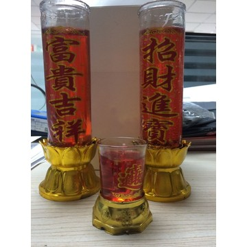 Lilin Toples Kaca Gel Jelly Lilin