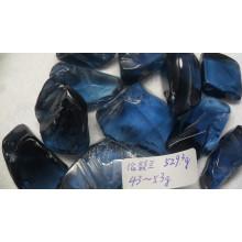 Lodon azul topacio áspero para piedras preciosas facetas