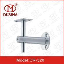 Suporte de prateleira de vidro de aço inoxidável para corrimão (CR-328)