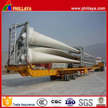 Double Axles Hydraulic Extendable Wind Blade Transport Trailer