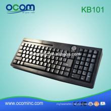 KB101 Keys Magnetic Card Reader Installed POS Keyboard